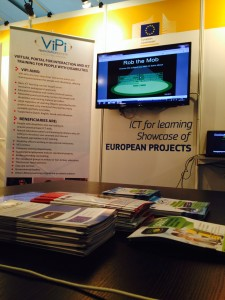 Booth at Online Educa Berlin 2013, presenting project outcomes