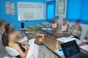 Participants at CY pilot training session. Picture of a room.